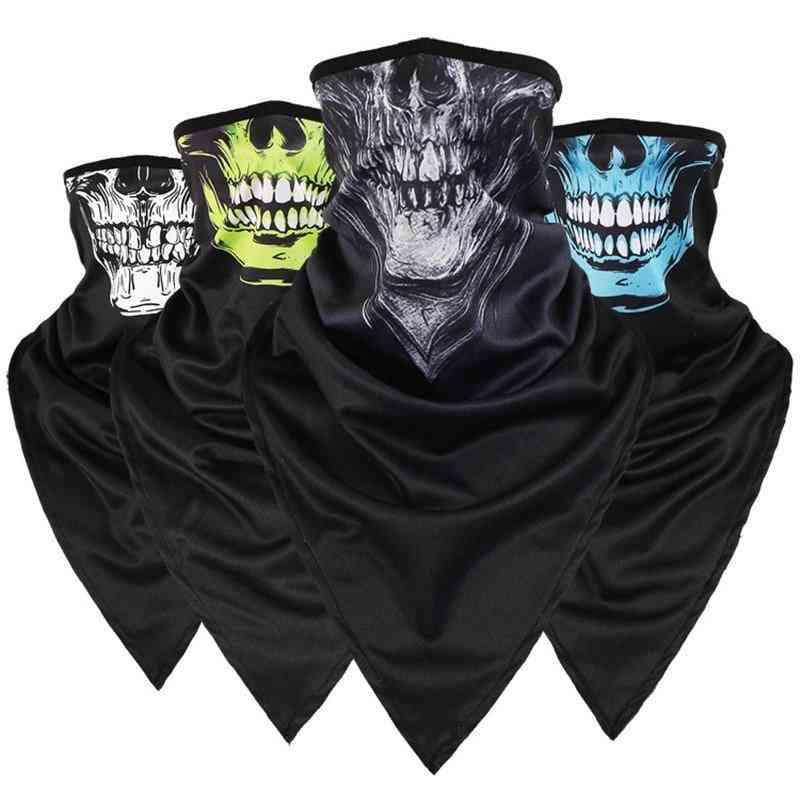 Skull Triangular, Long Sunscreen, Mask Scarf