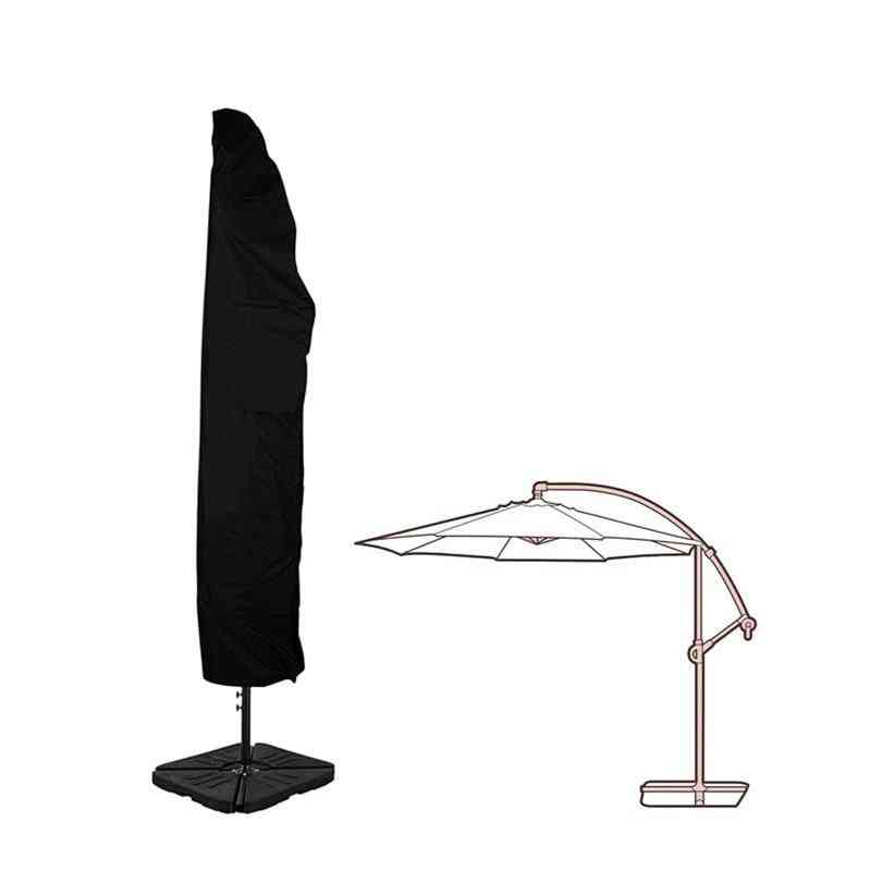 Offset Umbrella Cover Waterproof For Outdoor Garden, Banana Cantilever, Umbrellas With Zipper