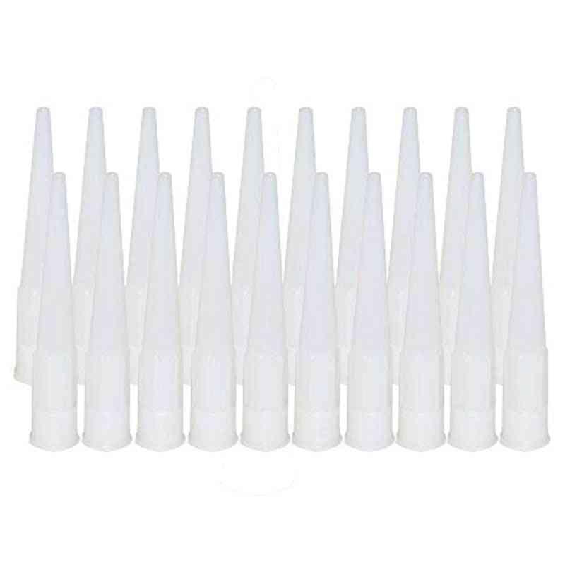 Plastic Universal Caulking Nozzle  Glass Glue Tip Mouth Tools