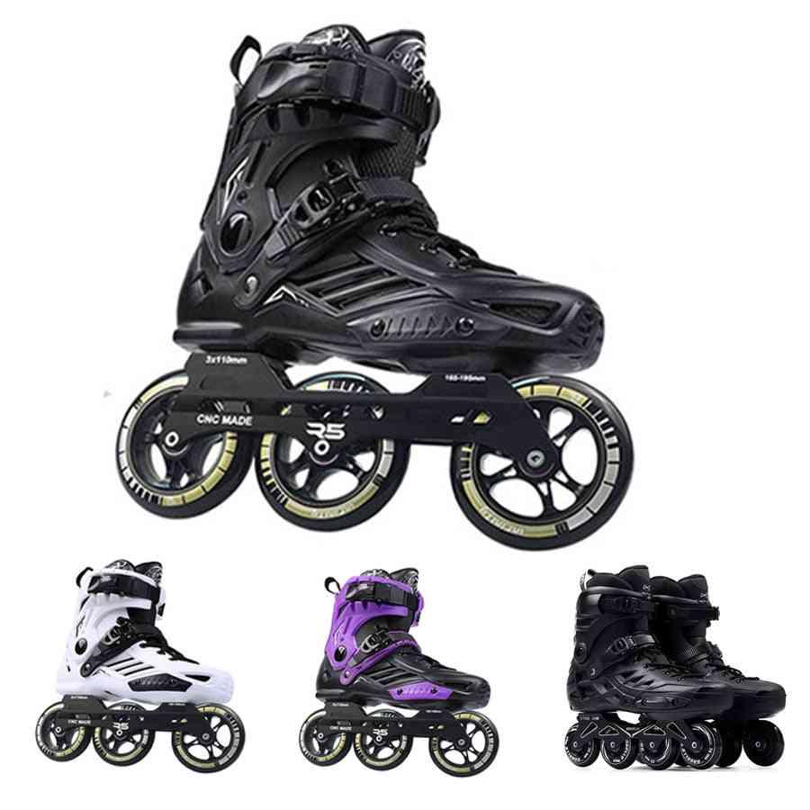 Skates Roselle Rs6 Inline Skates 72-76-80mm Or 3*110mm Slalom Speed Inline Skates Roller Free Skating Shoes Sliding Patines
