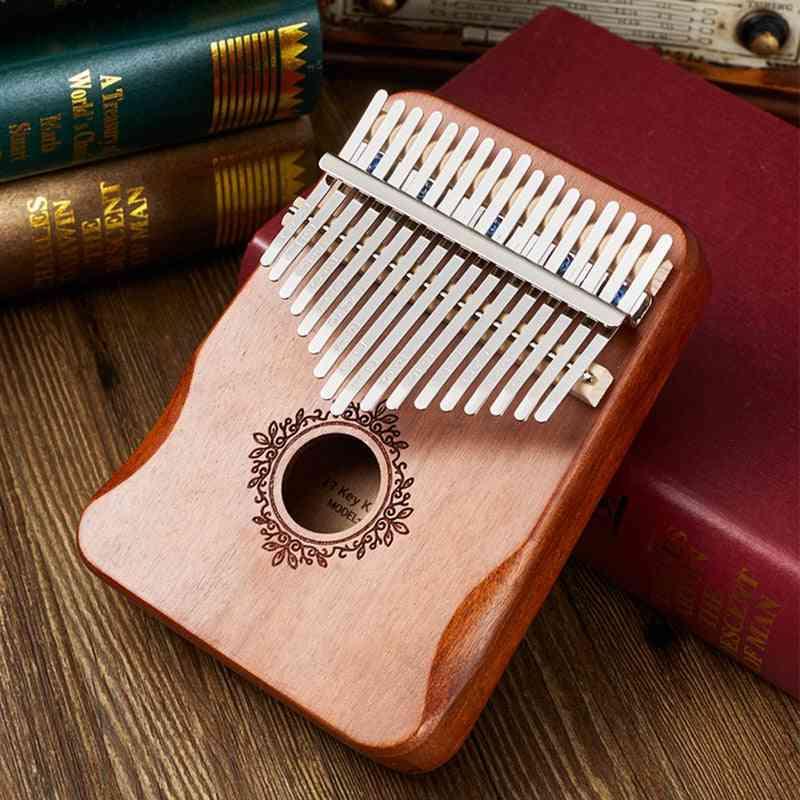 Kalimba Thumb Piano, Handguard Wood Mahogany Mbira Body Musical Instruments, Piano Creative Music Box