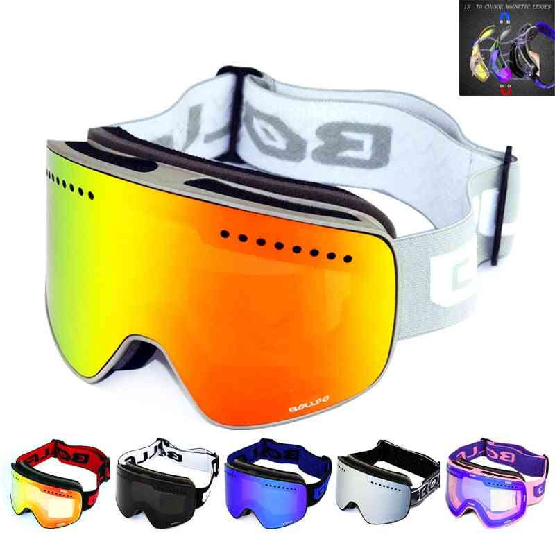 Anti-fog Uv400 Snowboard Goggles, Men Women Ski Glasses, Eyewear Case