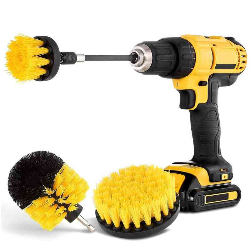 Drill Spin Scrubber Electric Cleaning Brush Fixing Car Bathroom Wooden Floo