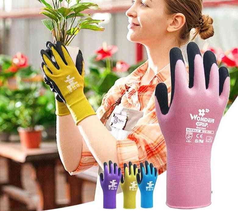 Quick Easy To Dig And Plant Garden Work Nylon Glove