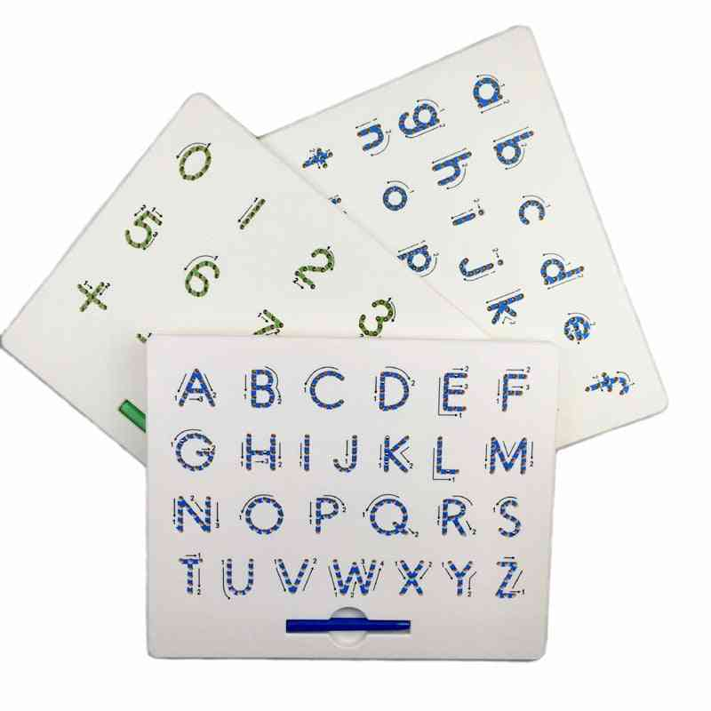 Magnetic Drawing Board, Alphabet Letter Tracing, Educational Letters, Read, Write, Learning Preschool