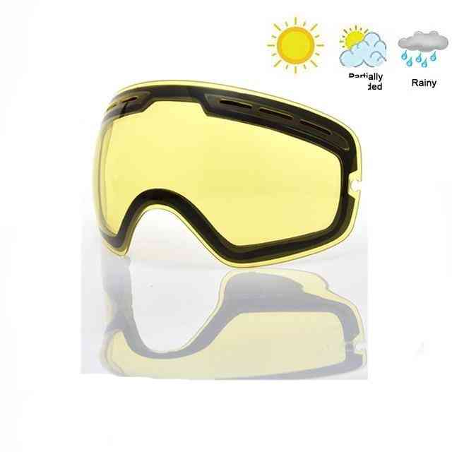 Angle Glasses With Double Layers Anti-fog Uv400 Mask