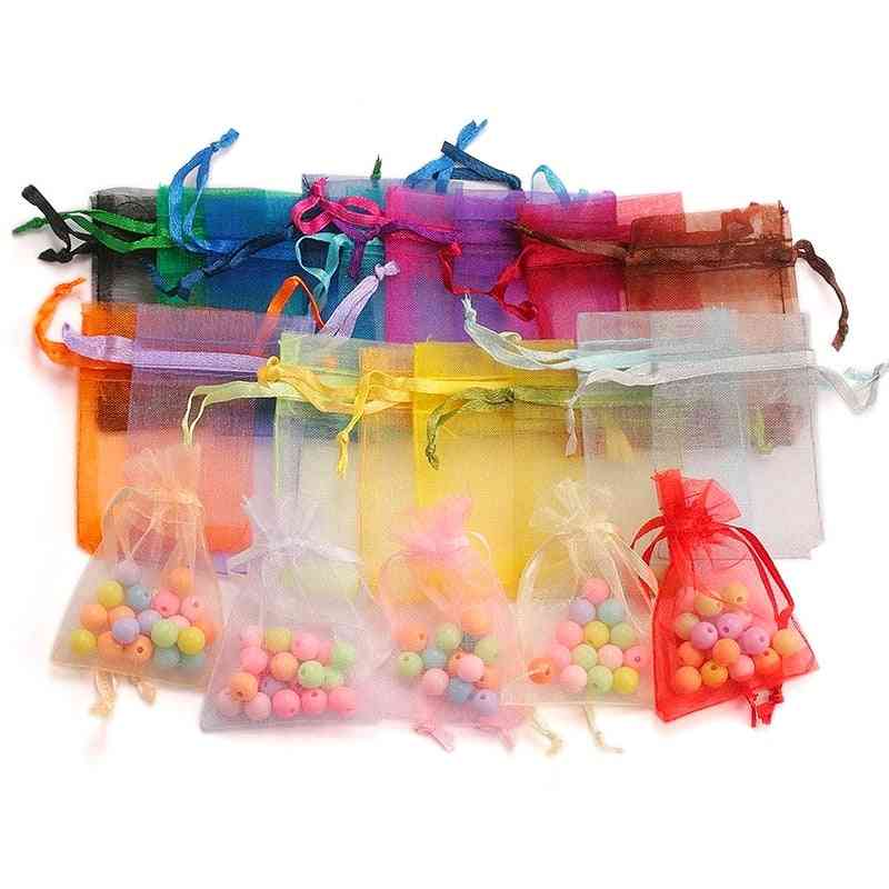 Organza Bag, Wedding Candy Bags, Pouches, Jewelry Packaging Display