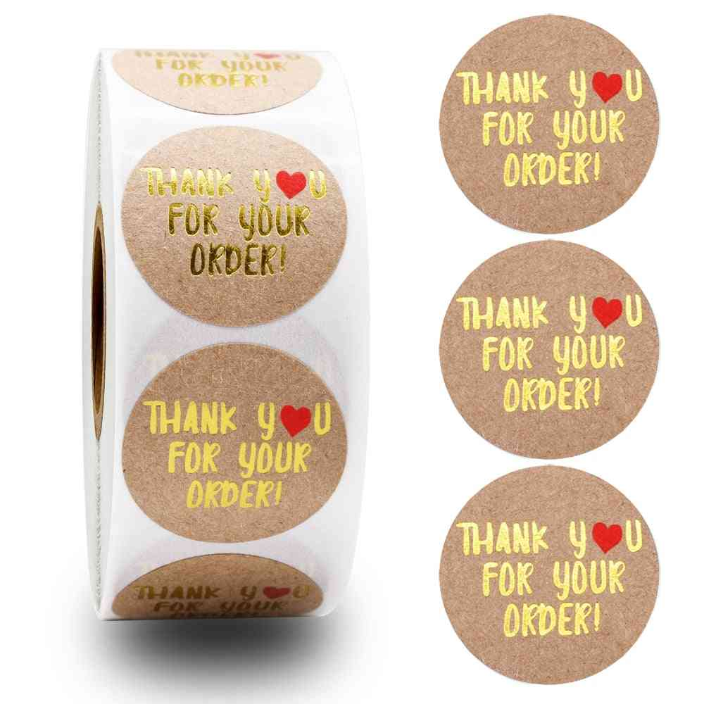 Handmade With Love Stickers, Floral Labels Sticker, Wedding/party/gift Box Decoration