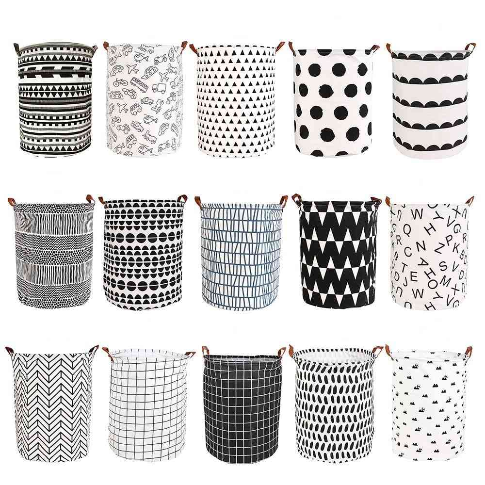 Folding Laundry Basket For Toy, Storage Dirty Clothes, Large Capacity Sundries Pouch, Household Organizers
