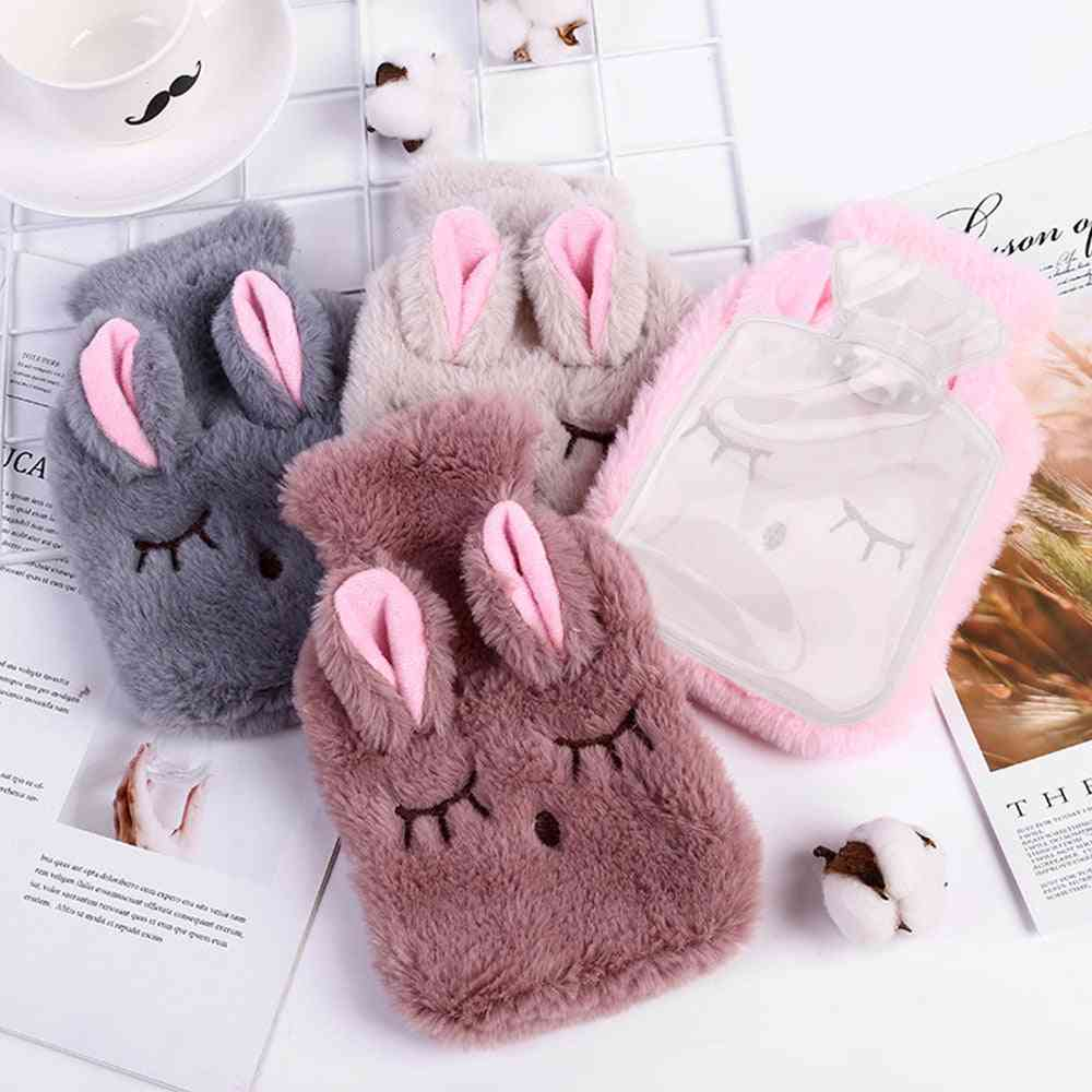Winter Cartoon Rabbit Pvc Stress Pain Relief Therapy Hot Water Bag