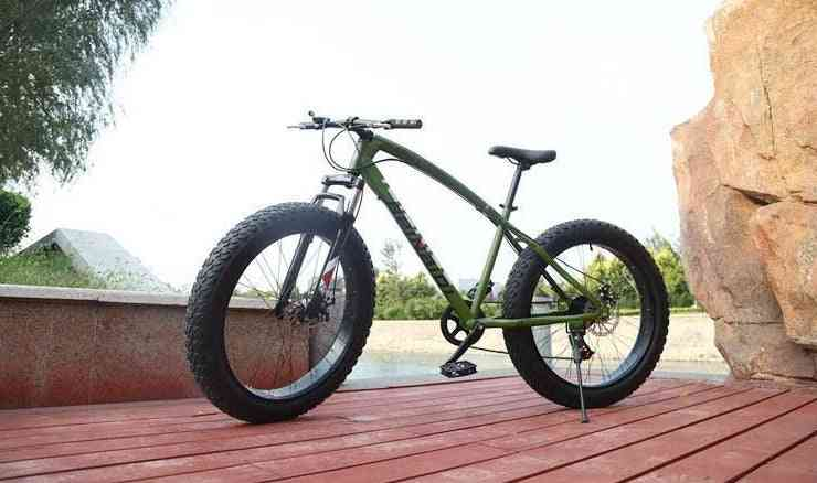 Fat Bike, Tire Widened, Snow And Beach, Mountain Bicycle