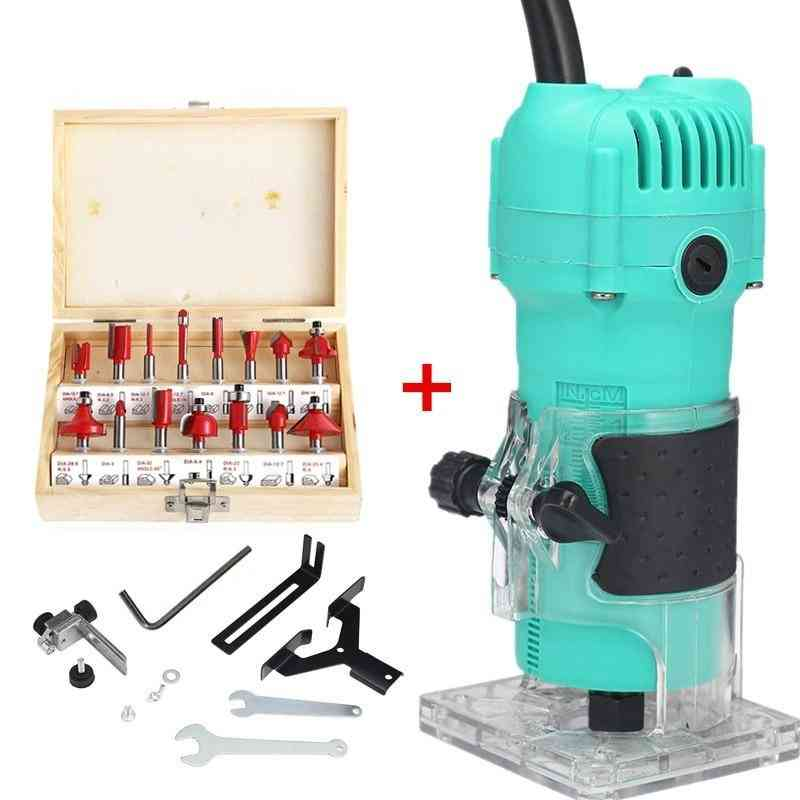 Electric Wood Milling Hand Trimmer Router Wood Carving Machine