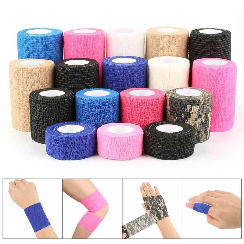 Self-adhesive Bandage First Aid Kit- Sports Body Gauze Vet, Protection Emergency Tape