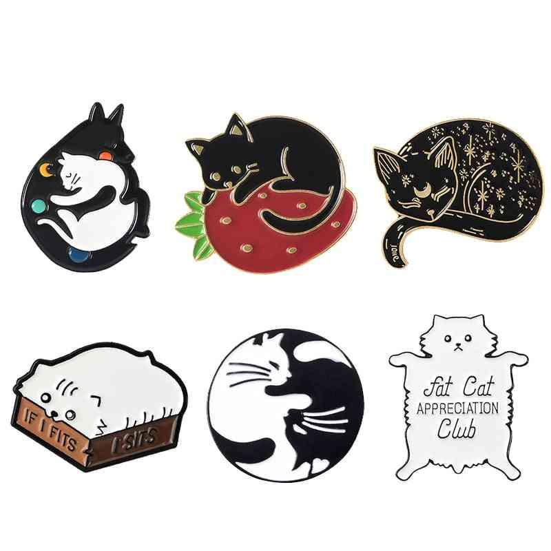 Cat Kindergarten Enamel Pins Brooch Bag Clothes
