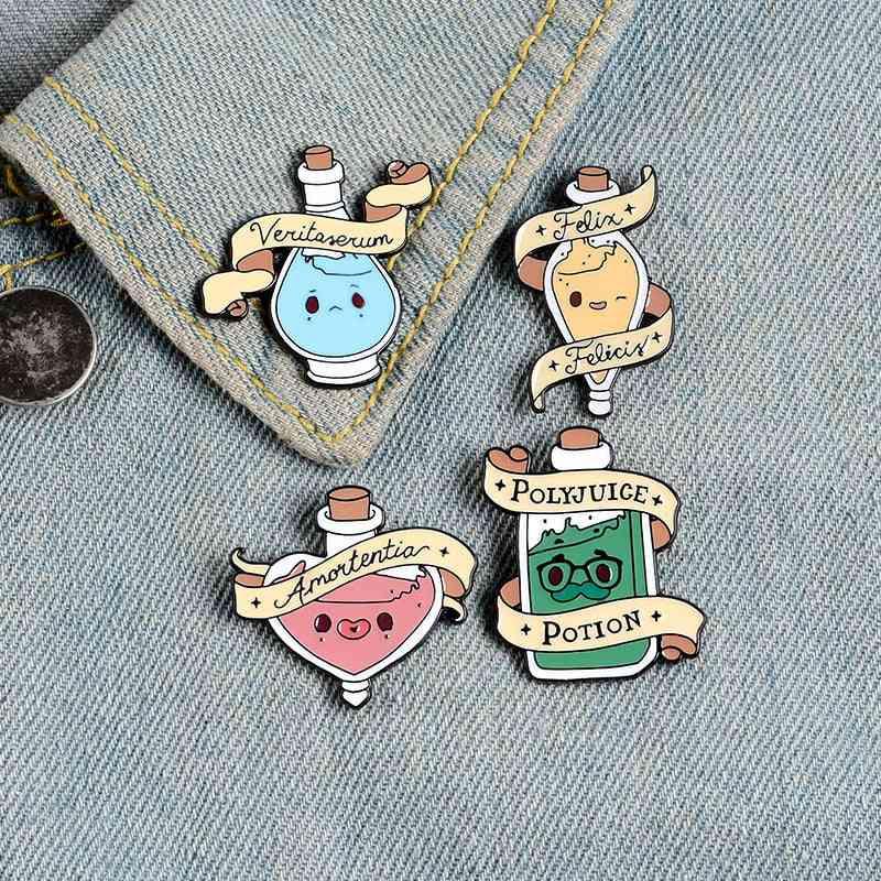Magic Love Potions Enamel Pins, Brooches Lapel Pin, Shirt Bag Colorful Badge