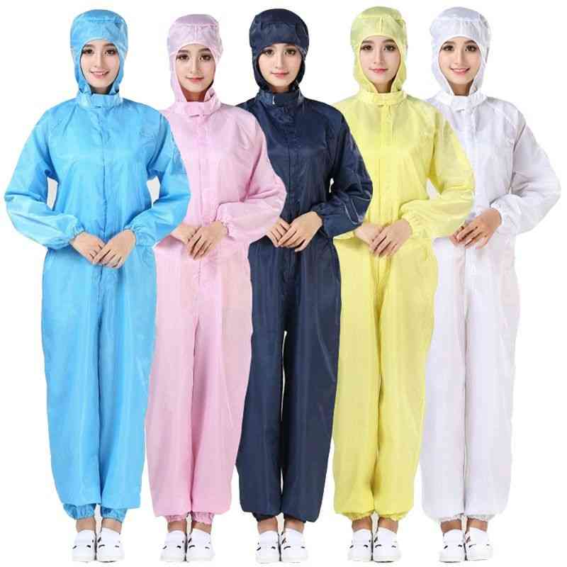 Hooded Coverall, Anti-static Suit, Chemical Protective, Isolation Safety Clothes
