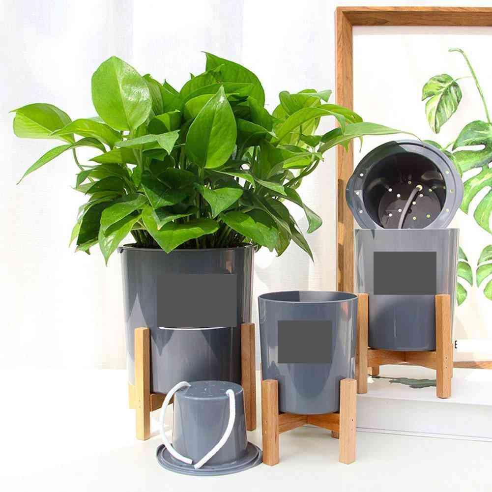 Wooden Four-legged Flower Stand Strong Durable Holder Plant Pot Shelf Tray Bonsai Display Bamboo Garden Stand
