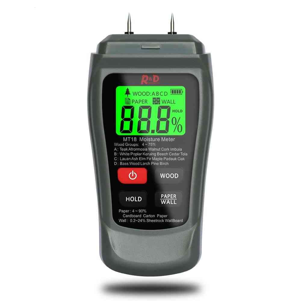 Digital Wood Moisture Meter Paper Humidity Tester