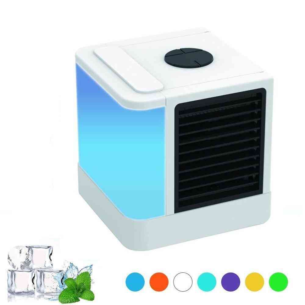 Portable Air Conditioning Device Humidifier 7 Colors Light Desktop Fan (air Conditioner)