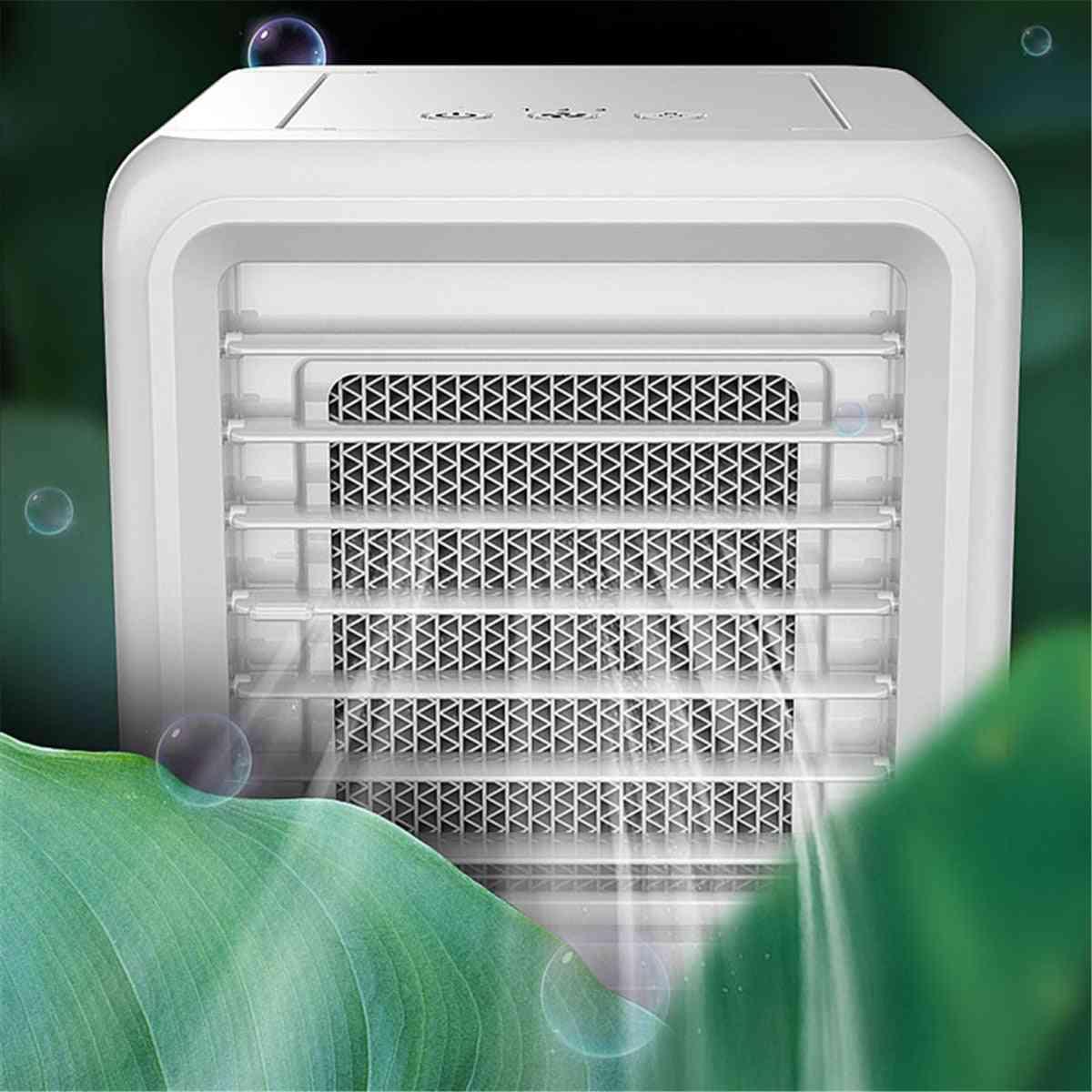 Mini Air Conditioning Humidifier, Purifier, Led, Usb Desktop Cooler