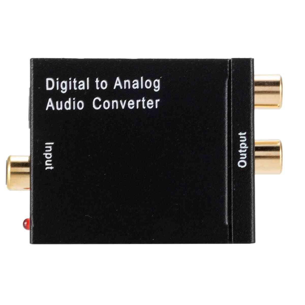 Dac Digital To Analog Audio Converter  (black)