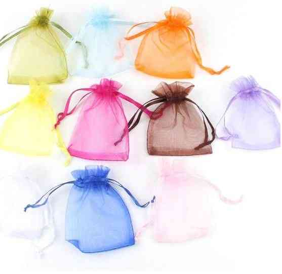 50pcs Drawstring Organza Jewelry Packaging & Display Bag