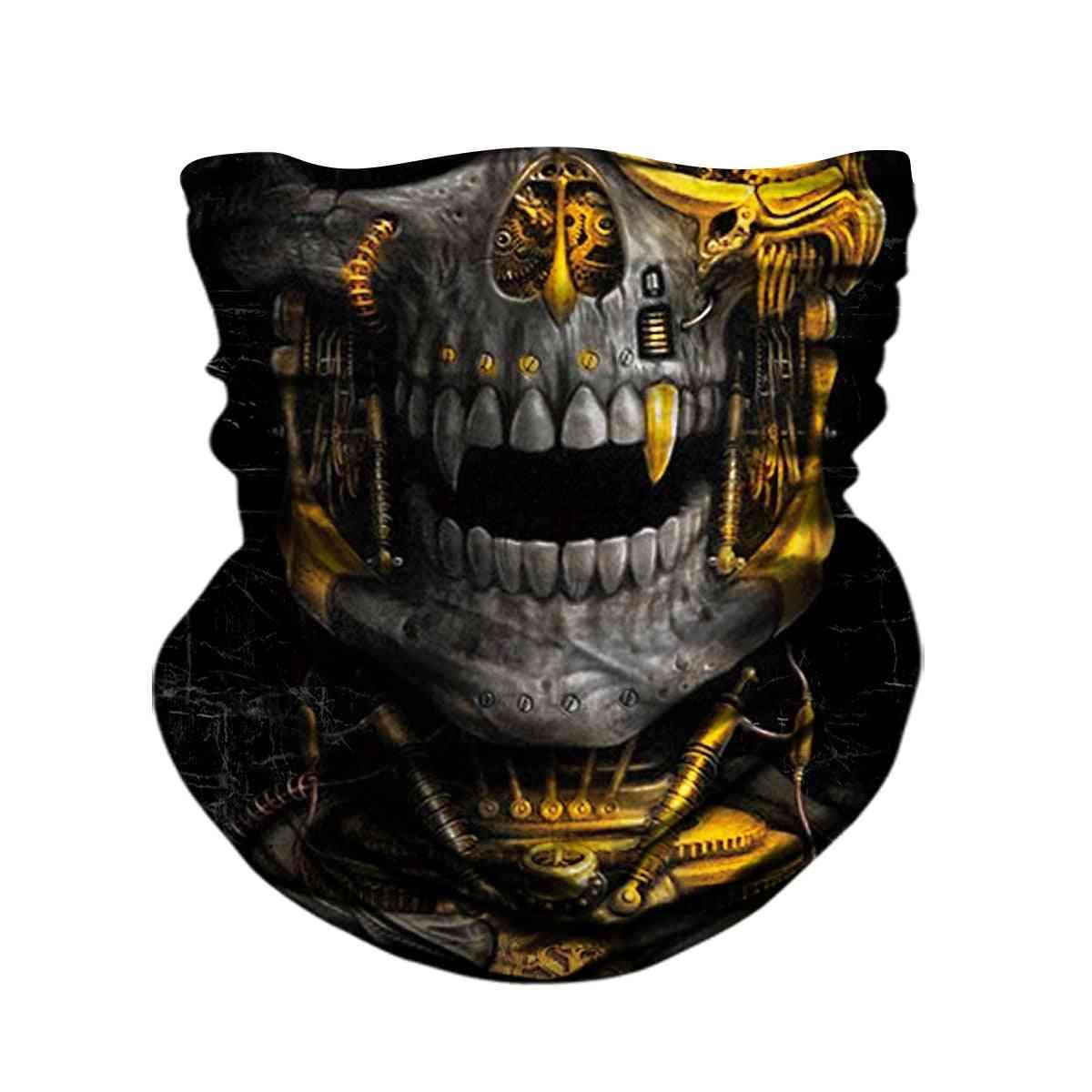 3d Skull Skeleton Balaclava Seamless Face Shield Mask Scarf Outdoor Anti-uv Bandana Headband