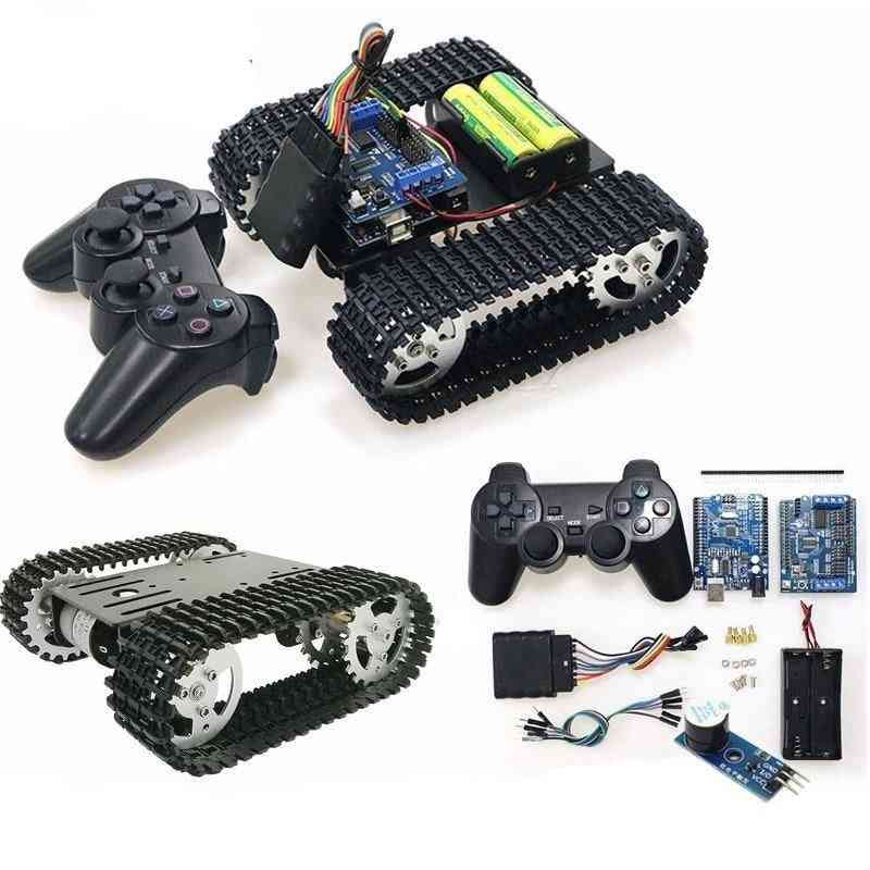 Ps2 Gamepad Handle Control T101 Smart Rc Robot Tank Chassis Kit