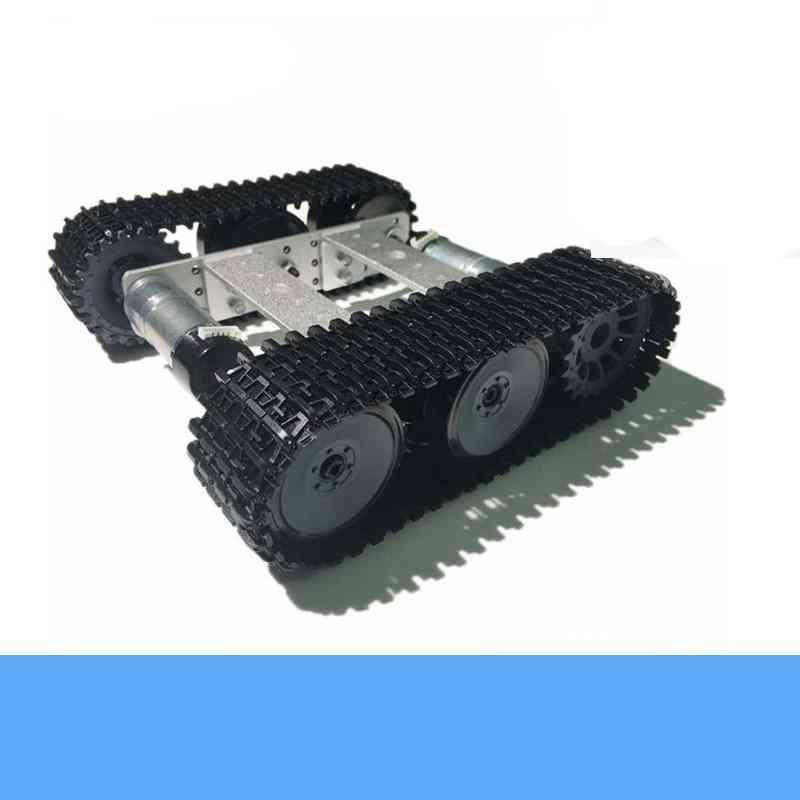 Unassembled Smart Crawler Robot Kit- Aluminum Panel, High Torque, Encoder Motor