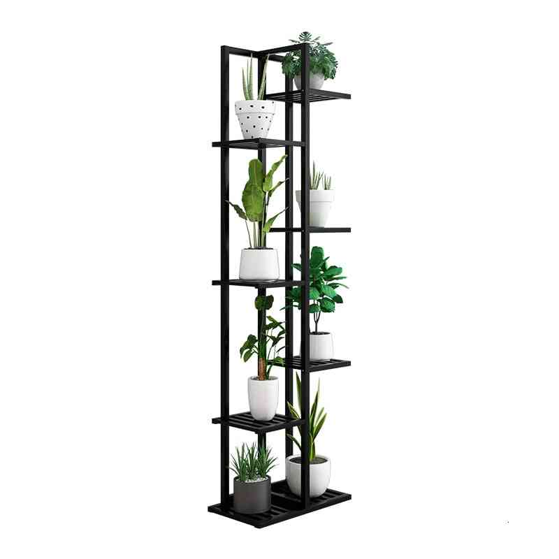 Household Shelf Multi-story Balcony Decorate Solid Wood Quality Indoor Living Room Luo Flowerpot Shelves