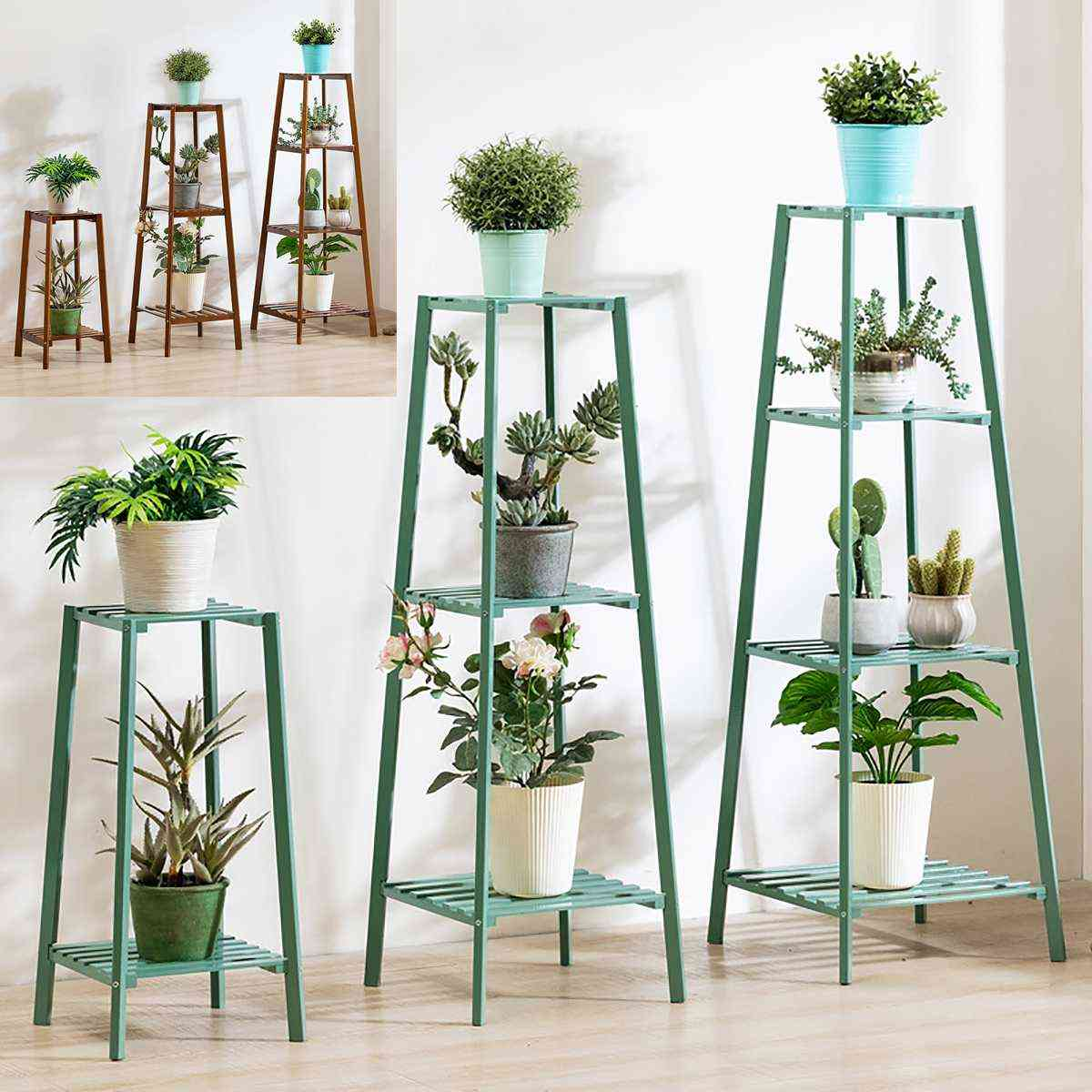 Four Layers Simplicity Metal Stand For Plants Landing Extravagant Multi-story Shelf Flowerpot