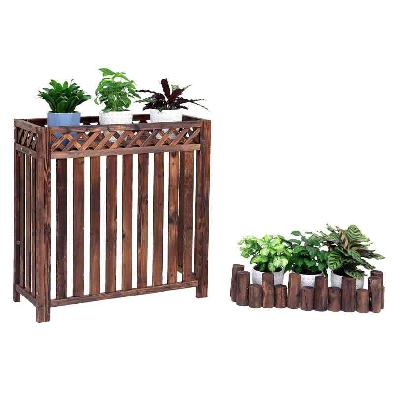 Air Conditioner Outside Machine Rack Flower Stand Decoration Balcony Outdoor Host Shelter
