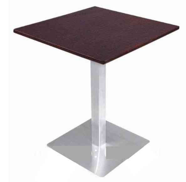 Coffee Table, Stainless Steel Base And Mdf Top,kd Packing