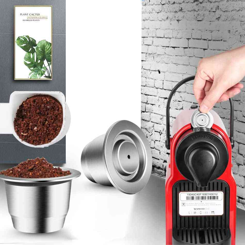 Svip Stainless Steel Coffee Capsule For Nespresso, Reutilisable, Inox, Refillable, Reusable Filter Pods