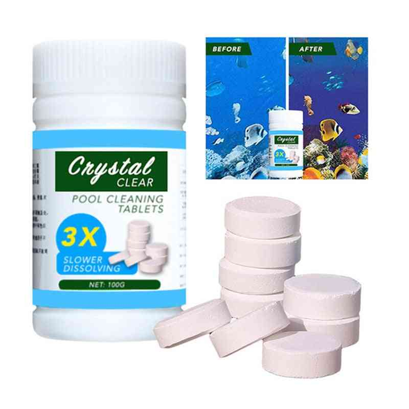 Swimming Pool Cleaning Tablets, Disinfection Pills, Clarifier Chemical Chlorine Tablet, Instant Cleaning Water