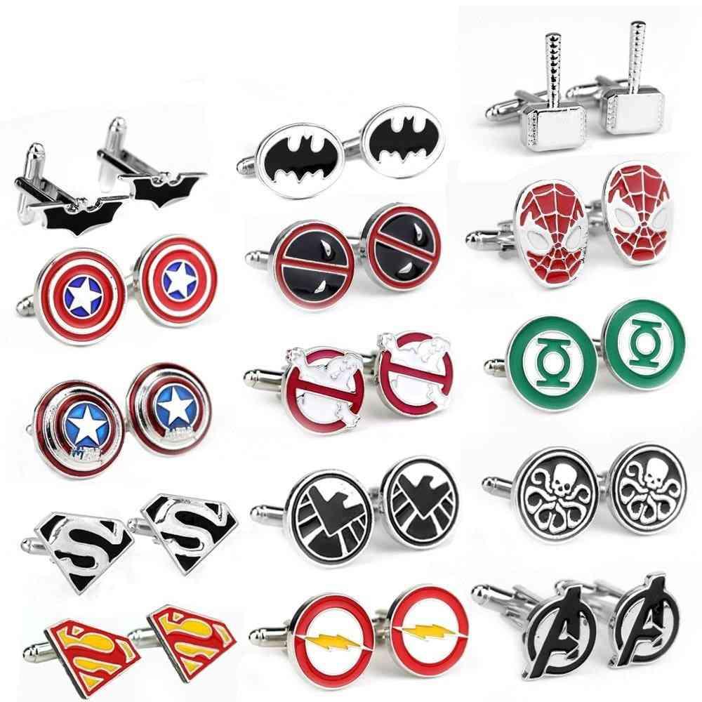 Superhero Tie Clips & Cufflinks