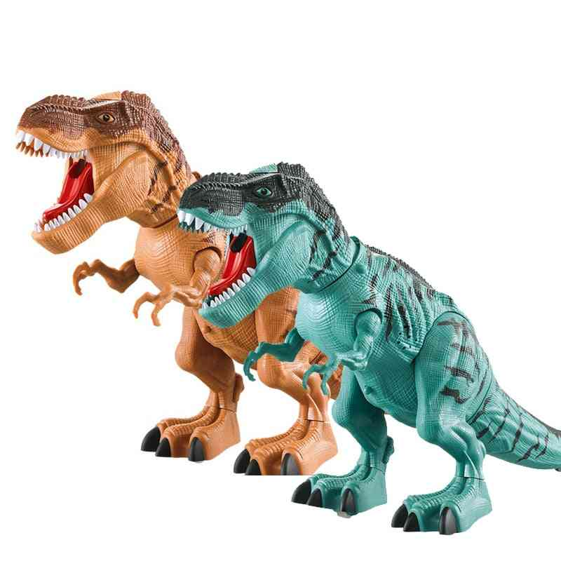 Electric Walking Spray Lay Eggs, Robot With Light Sound, Dinosaurs Model