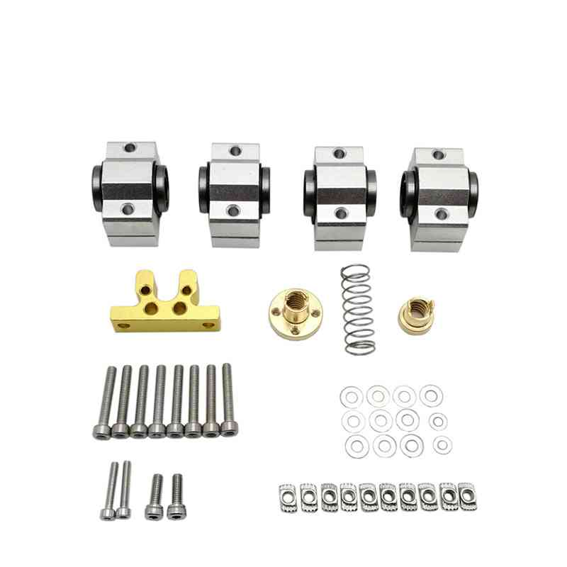 Cnc X-axis Upgrade Kit (bearing Scs10vuu Screw Rod Lead 4mm)