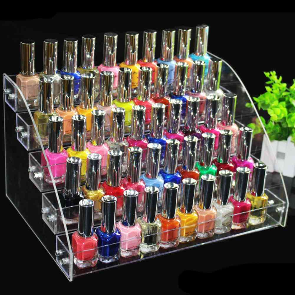 Multi-layer Transparent Acrylic Display Stand Nail Polish, Cosmetic Stands, Holder Manicure Tool, Organizer Storage Rack