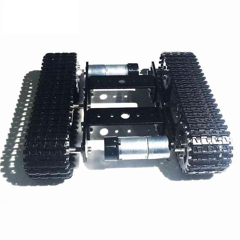 Metal Tank Model Robot Tracked, Car Chassis Diy Track Teaching Crawler