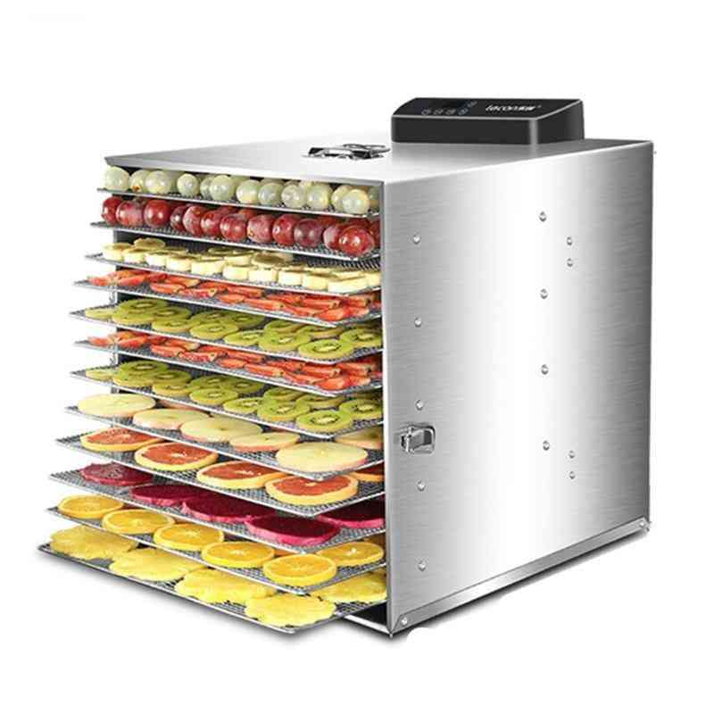 Electric 6,12 Layers Fruit Dryer Food Vegetable Meat, Dehydrator Air Drying Machine