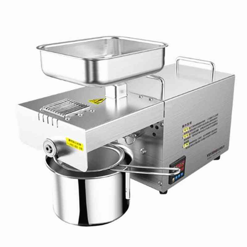 Cold & Heat- Commercial Oil Press, Coconut Almond Seeds, Squeeze Oil Machine