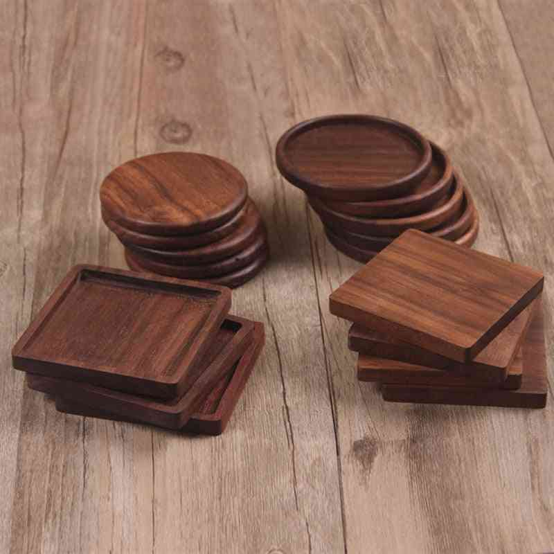 Walnut Wood Coasters Durable Tea Coffee Cup Pad Placemat