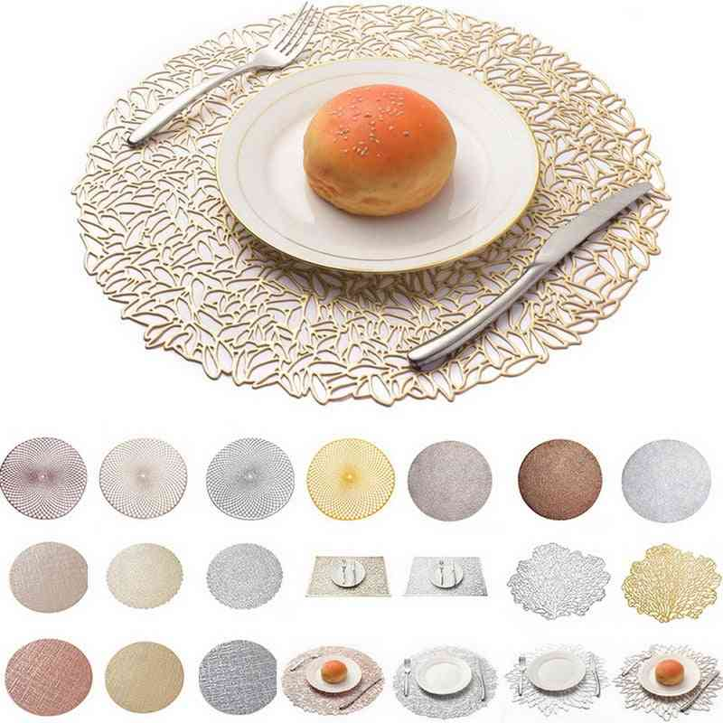 Pvc Round Placemat- Kitchen Dining Table Mat