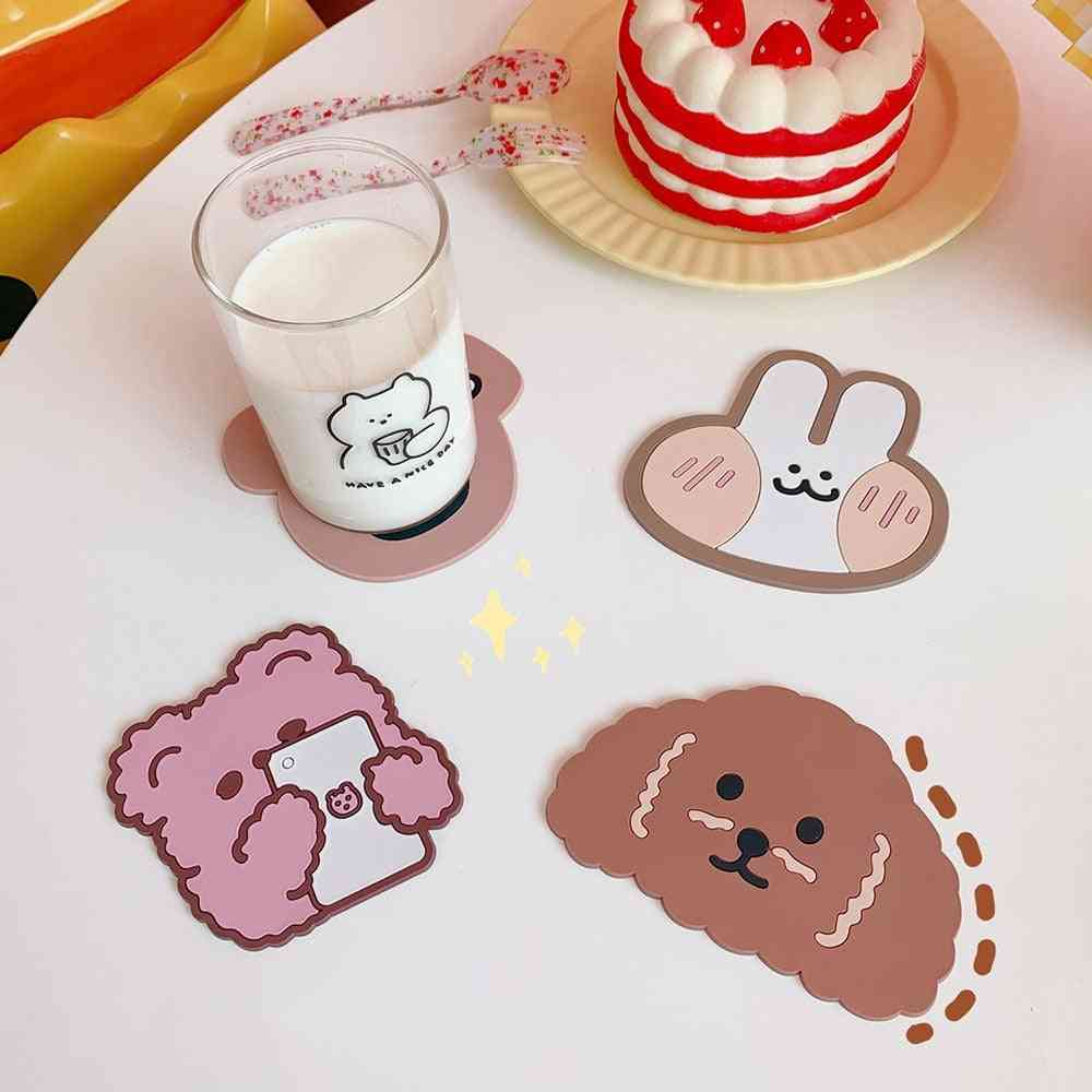 Creative Cute Table Placemat-waterproof Heat Insulation Non-slip Bowl Pad