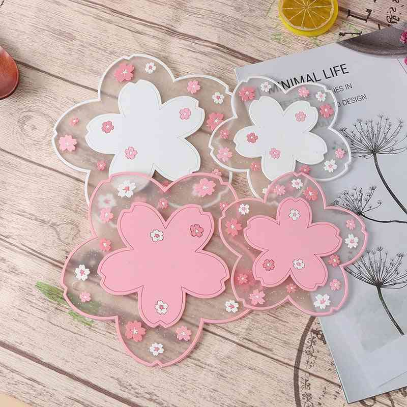 1pc Japan Style Cherry Blossom Heat Insulation Table Mat