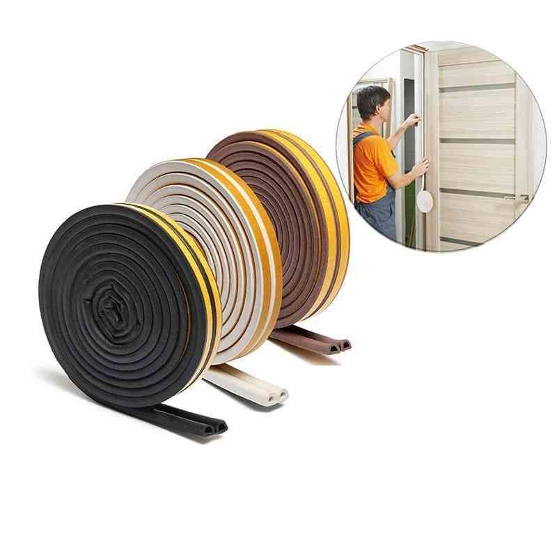 Doors Window Gasket Soundproof  Rubber Foam Weatherstrip, Sealed Collision Strip
