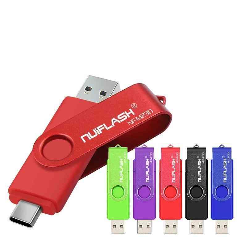 Type-c, 2.0 Usb Flash & Stick Pen Drive For Smart Phone/laptop