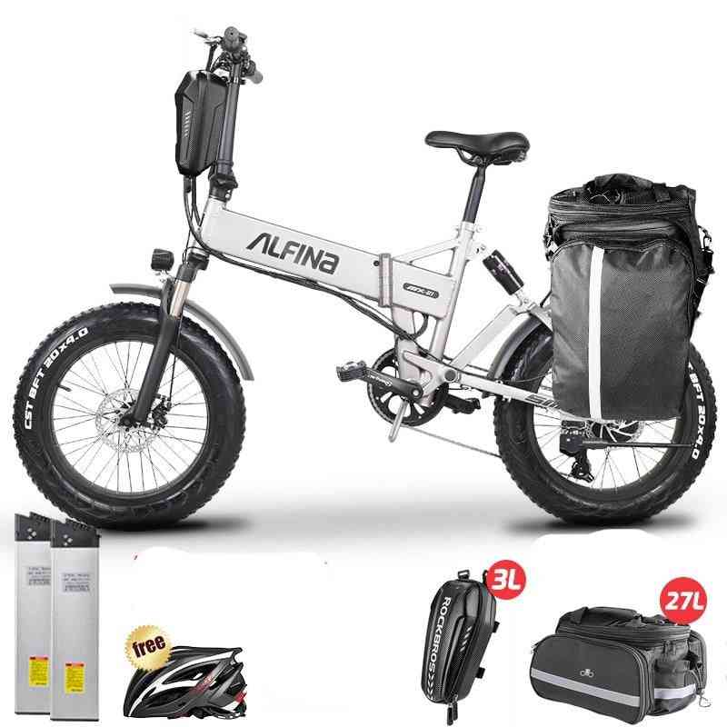 New Electric Bicycle Snow Mountain