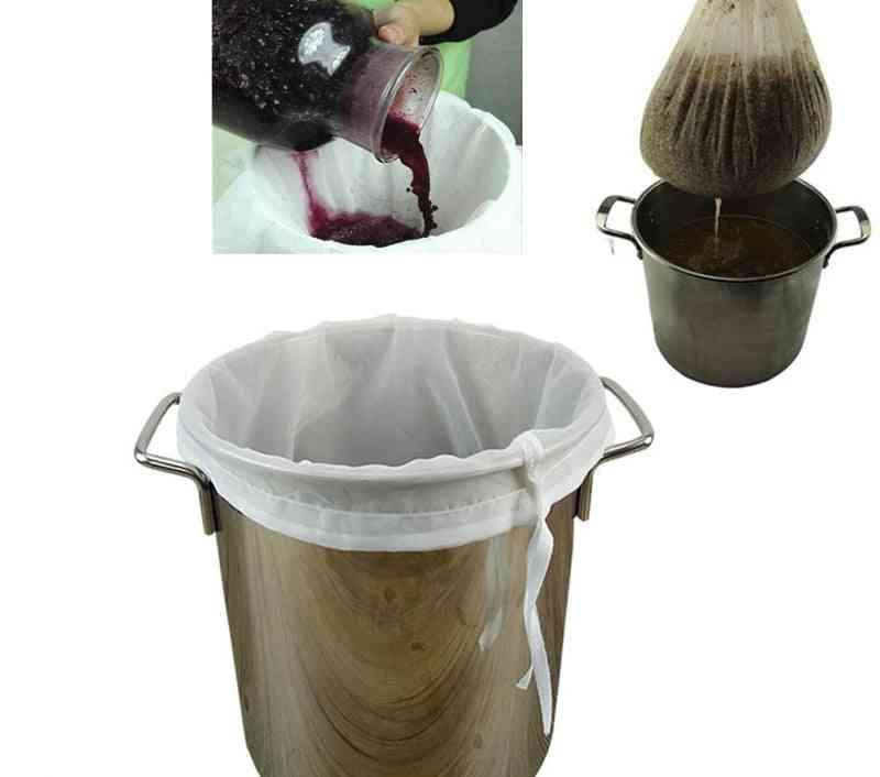 Mesh Brew Strainer Bag Food Grade Nut Milk Wine Beer Sieve Soy Milk  Juice Stuffing Coffee Filter